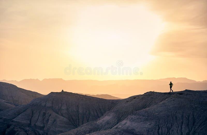 Ход следа в пустыне стоковые изображения rf