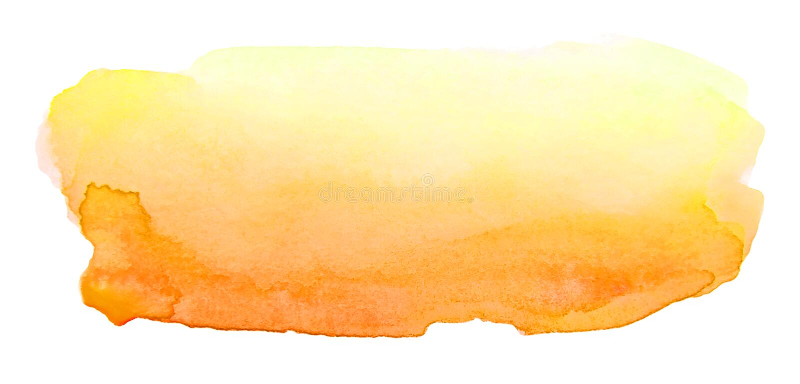 Ход щетки акварели художнический желтый для текста иллюстрация вектора