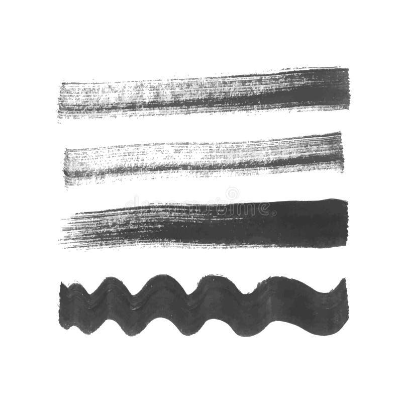 Ход щетки Grunge иллюстрация вектора