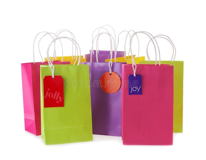 Хозяйственные сумки стоковые изображения rf