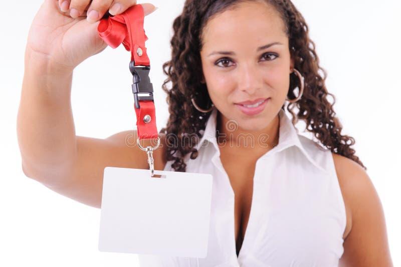 Хозяюшка показывая ее значок стоковые изображения rf
