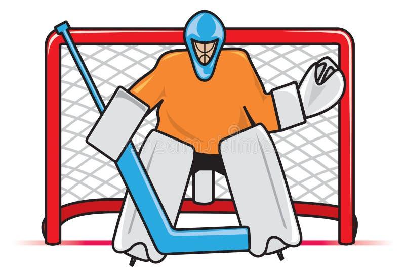 хоккей вратаря иллюстрация вектора