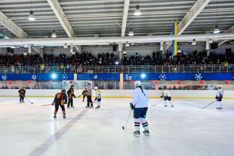 Хоккей женщин в Украине стоковое фото