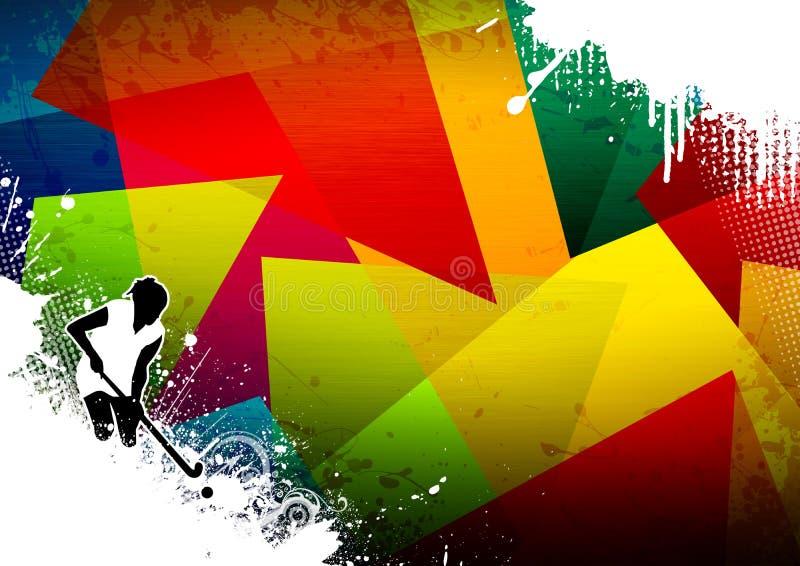 хоккей поля иллюстрация штока