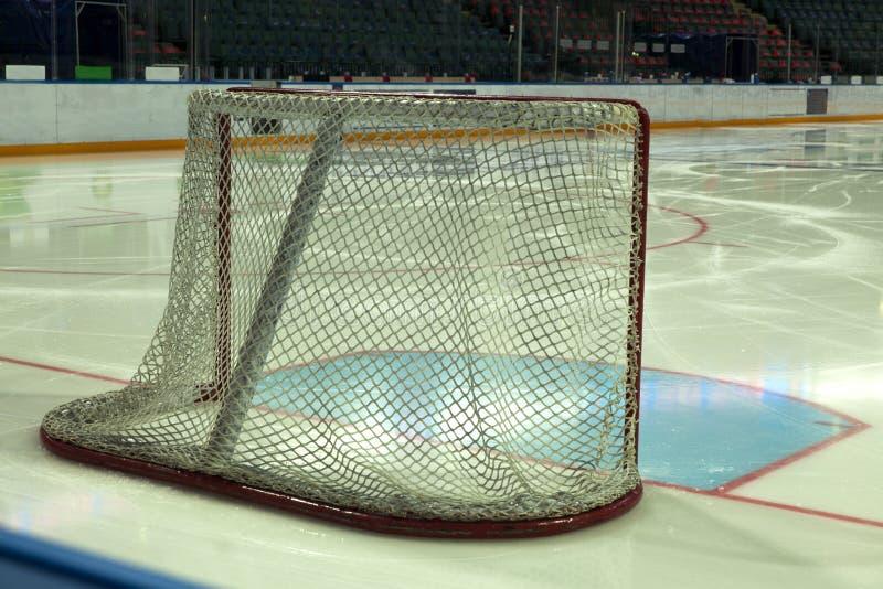 Хоккей телевизионной передачи, цели хоккея стоковые фото