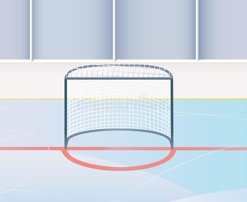 хоккей цели иллюстрация штока