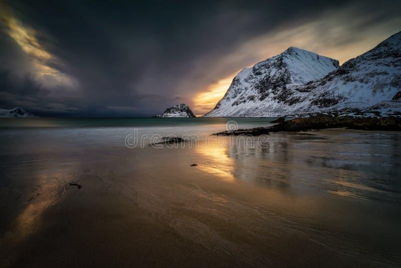 Хокландский пляж зима стоковое изображение rf