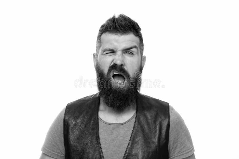 Холить парикмахерской и бороды Вводить бороду и усик в моду Обработка волос на лице Хипстер с парнем бороды зверским стоковые изображения