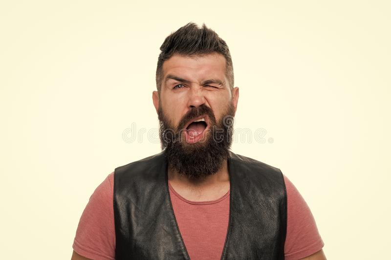 Холить парикмахерской и бороды Вводить бороду и усик в моду Обработка волос на лице Хипстер с парнем бороды зверским стоковые фотографии rf