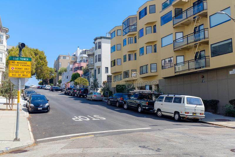 Холмистые улицы Сан-Франциско стоковая фотография