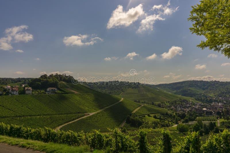 Холмы в южной Германии стоковое фото