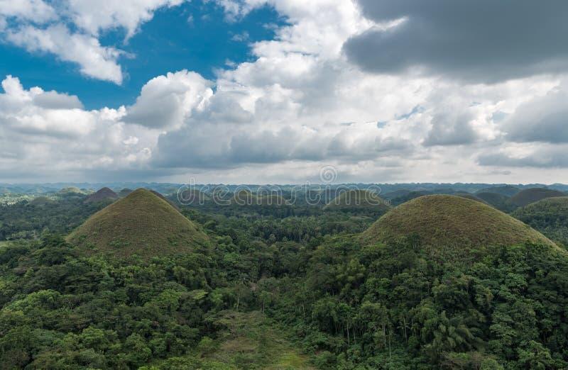 Холмы в Bohokl, Филиппины шоколада стоковые фотографии rf