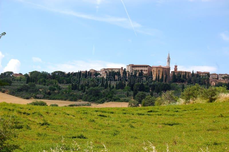 Холмы Тосканы стоковые изображения rf