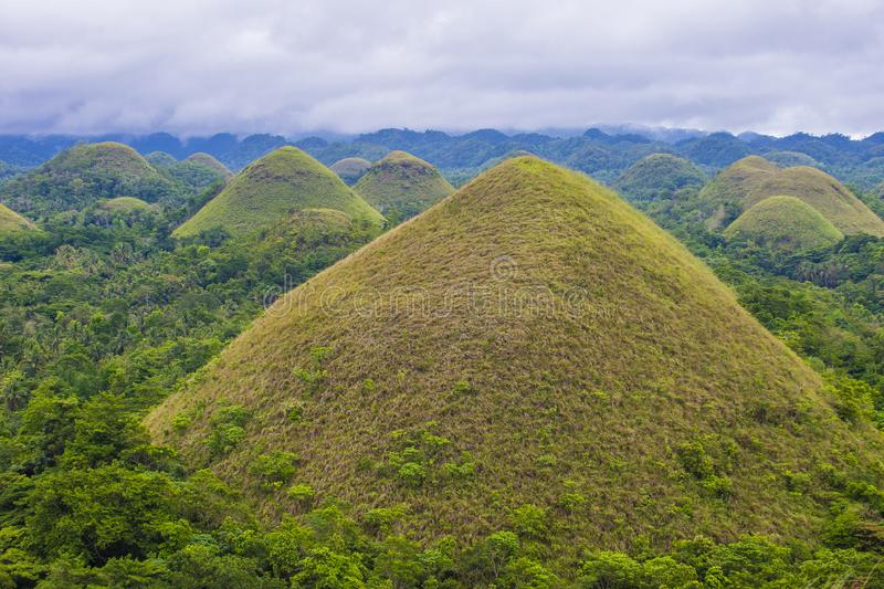 Холмы шоколада, Bohol стоковое фото rf