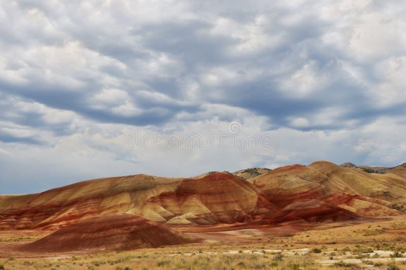 холмы john дня кроватей ископаемые покрасили стоковая фотография