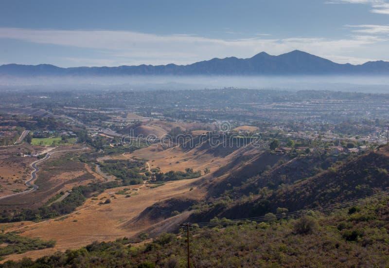 Холмы San Joaquin в южной Калифорния стоковая фотография rf