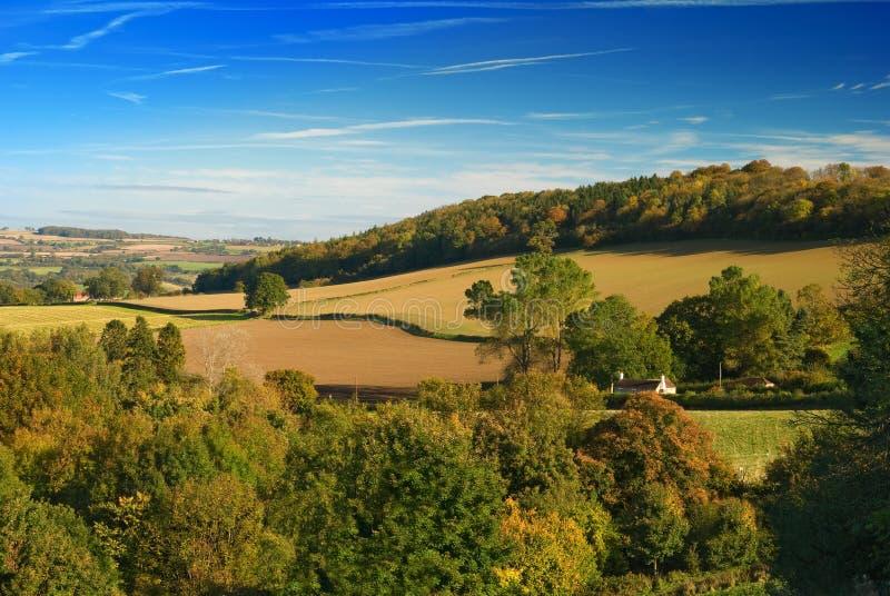 холмы shropshire стоковая фотография