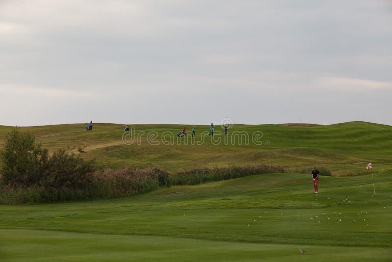 Холмы Sviyaga поля для гольфа стоковое изображение