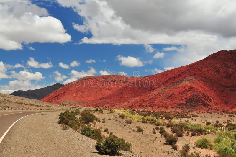 холм Аргентины стоковая фотография