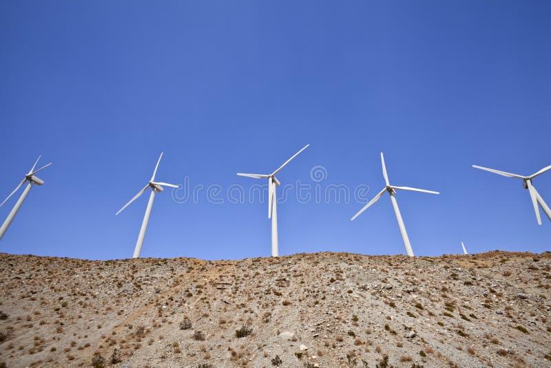 Холм ветрянки пустыни стоковое фото rf