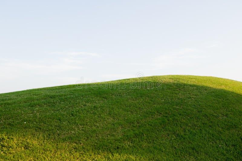 холм гольфа курса травянистый стоковое изображение