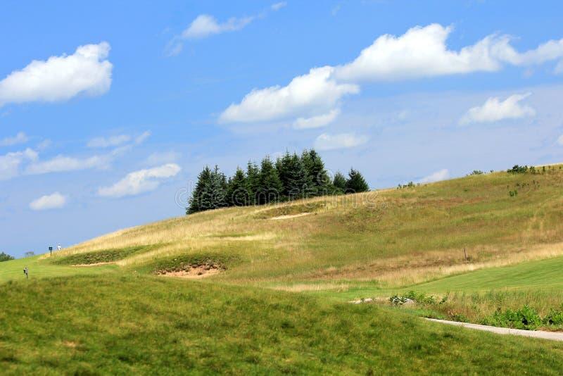 холм гольфа курса чемпиона стоковое фото rf