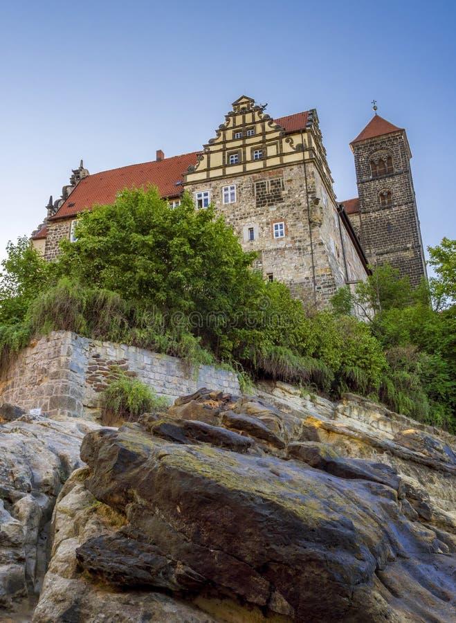 Холм замка в Кведлинбурге, Германии стоковая фотография