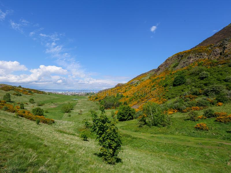Холм места Эдинбурга Артур стоковая фотография rf