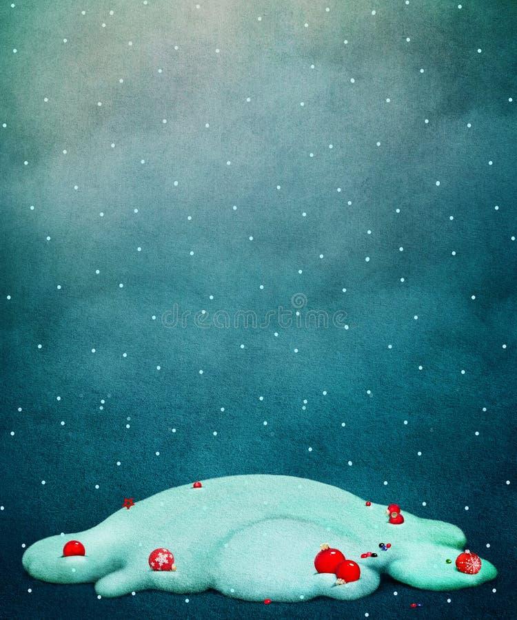 Холм снега предпосылки иллюстрация вектора