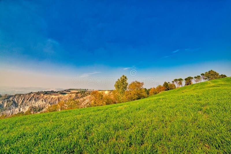 Холм amd неплодородных почв зеленый стоковые фото