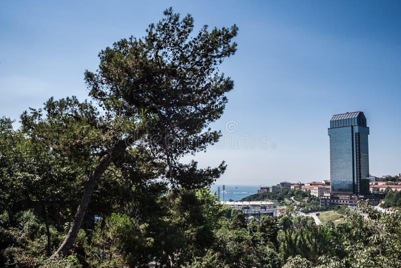 Холм Macka в Стамбуле, Турции стоковая фотография rf