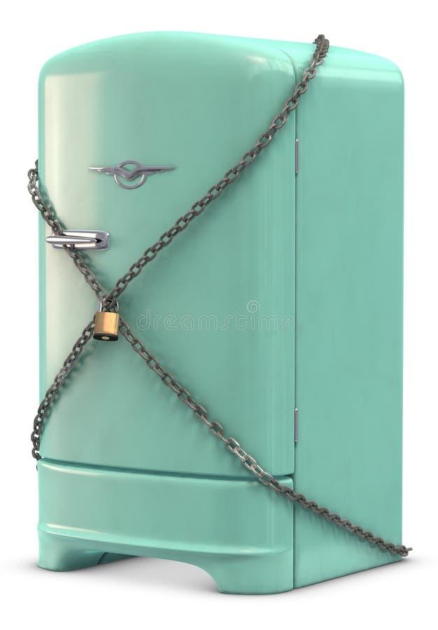 холодильник ретро иллюстрация штока