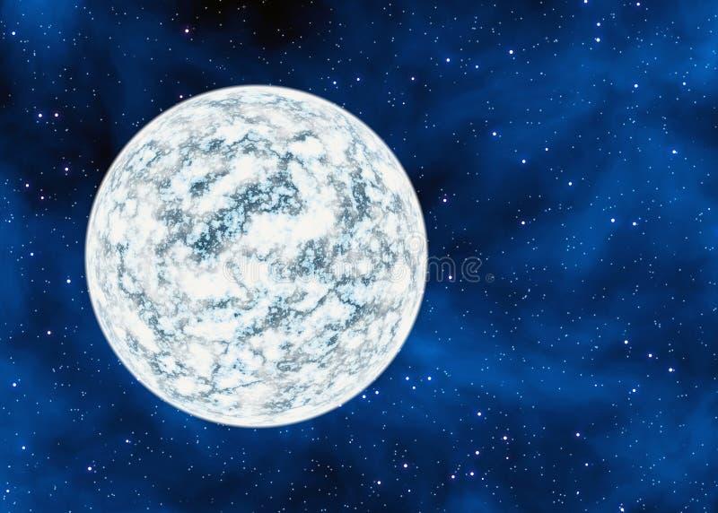Холодная замороженная планета пустыни на предпосылках звезд космоса бесплатная иллюстрация