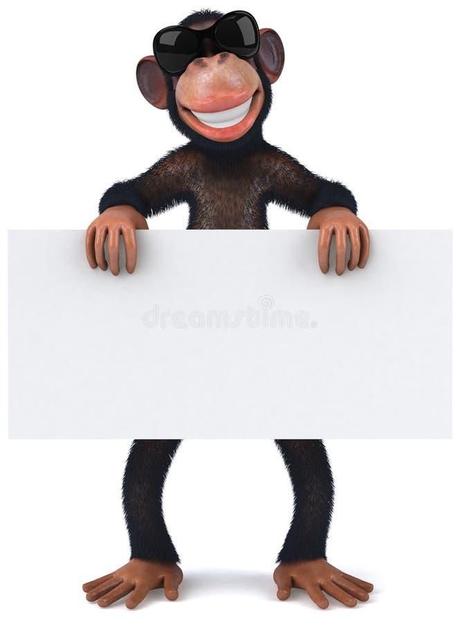 холодная обезьяна иллюстрация вектора
