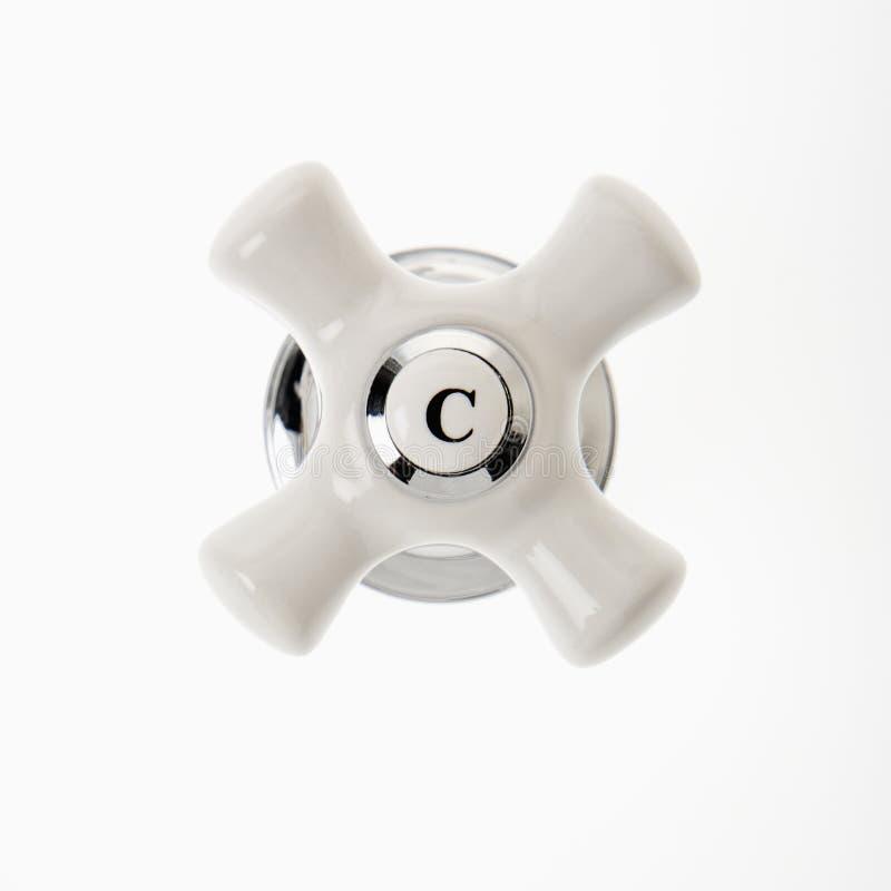 холодная ручка faucet стоковая фотография rf