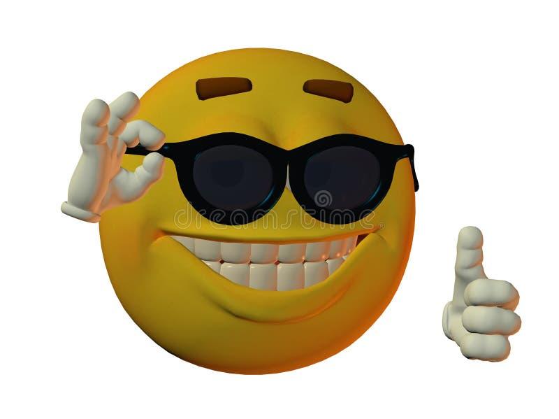 холодное смотря мыжское smilie бесплатная иллюстрация