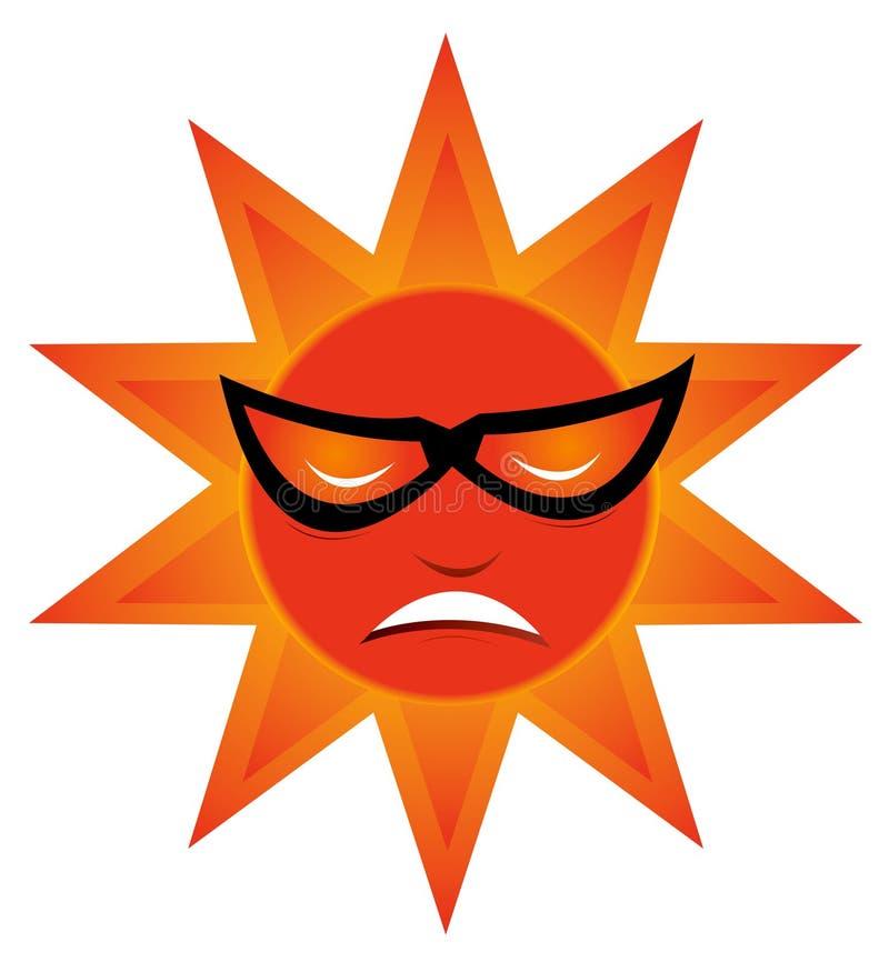 холодное солнце иллюстрация штока