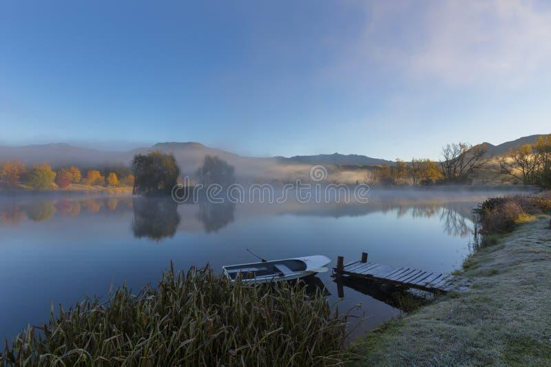 Холодное туманное утро стоковая фотография