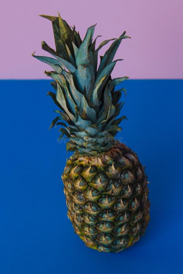 Холодное pineaple и яркая предпосылка стоковая фотография rf