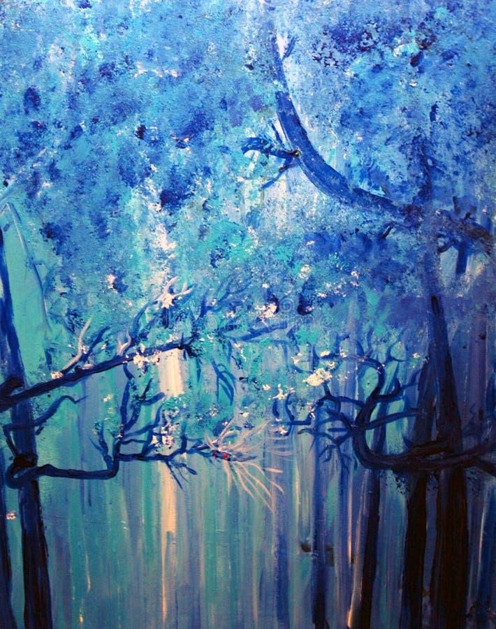 холодные туманные древесины стоковое фото rf