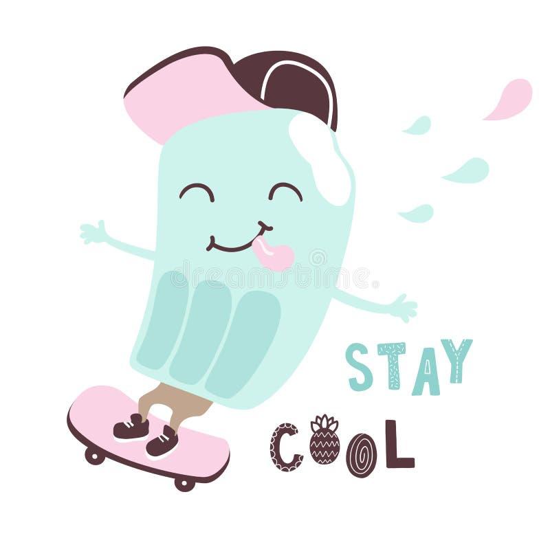 Холодный всадник мороженого бесплатная иллюстрация