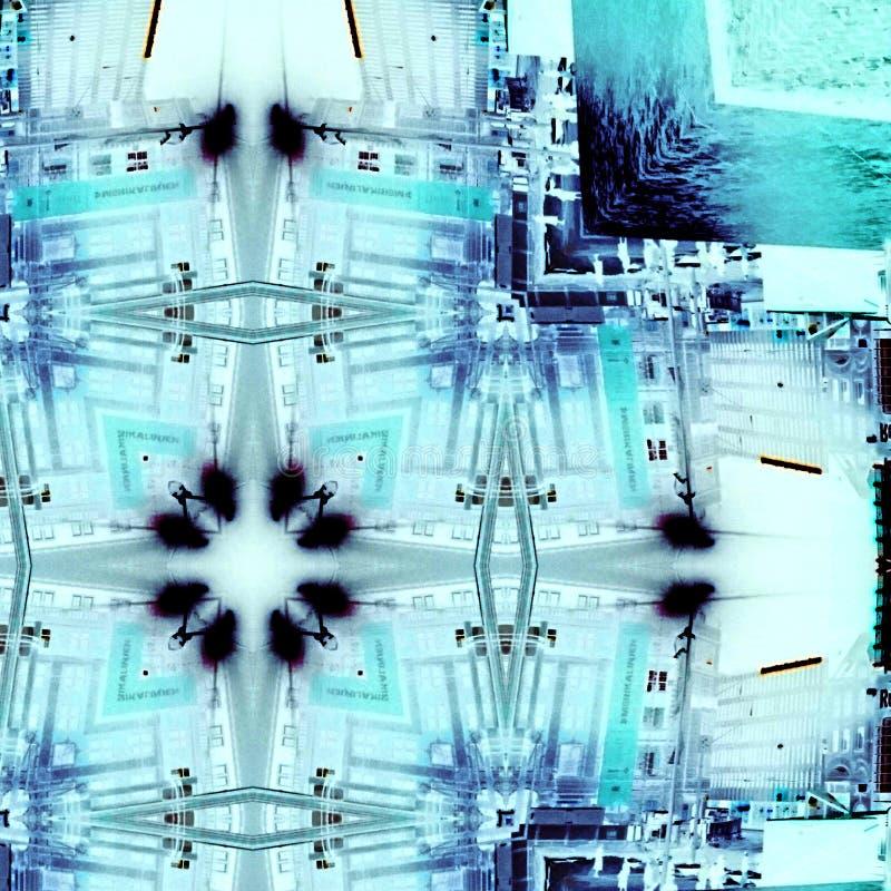 Холодный голубой абстрактный дизайн иллюстрация вектора