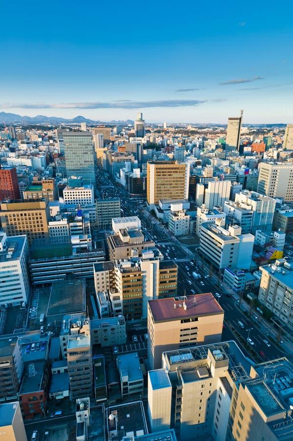 холодный день япония sendai стоковое изображение rf