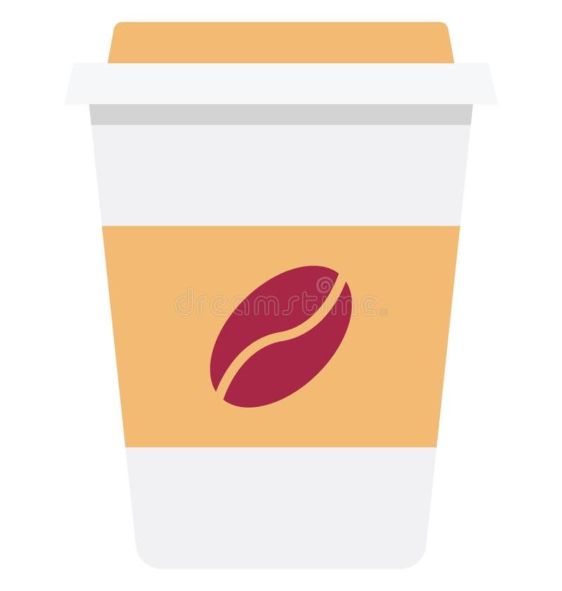 Холодный значок вектора цвета кофейной чашки который может легко доработать или отредактировать бесплатная иллюстрация