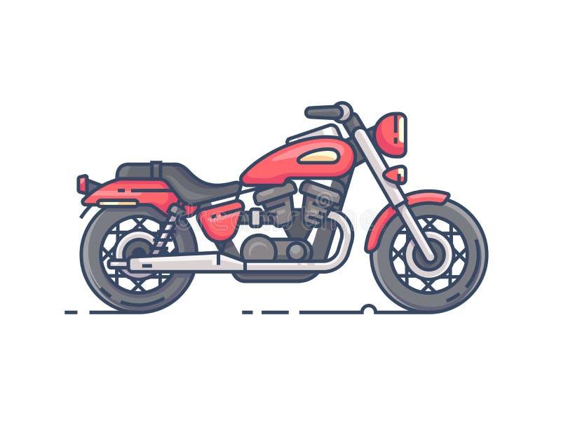 Холодный мотоцикл велосипедиста бесплатная иллюстрация