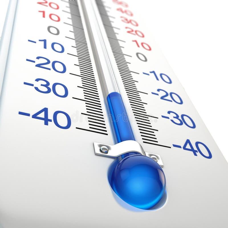 Холодный термометр иллюстрация штока