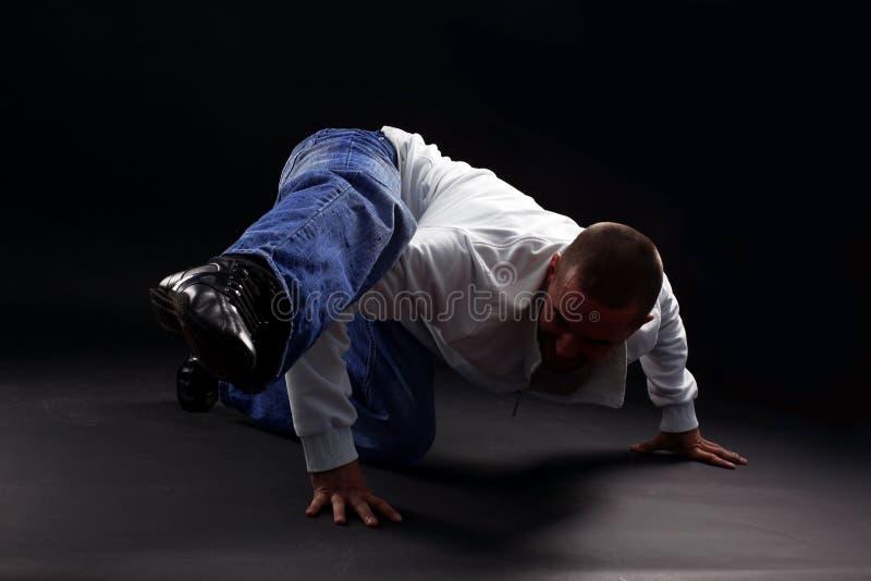 холодный человек танцора самомоднейший стоковое фото
