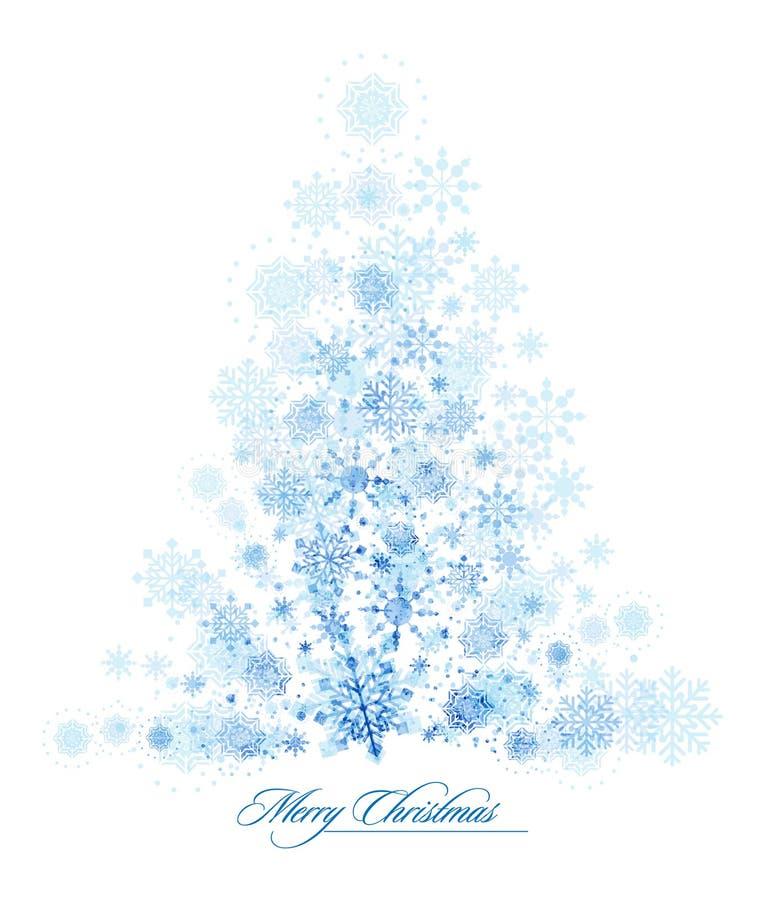 холод рождества замерзая сделанный вал снежинок иллюстрация вектора