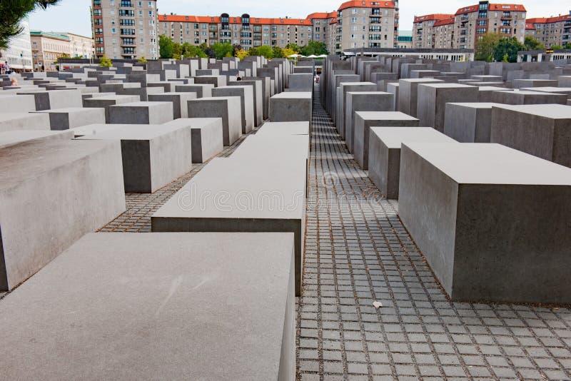 Холокост мемориальный Берлин, мемориал к убитым евреям стоковые изображения