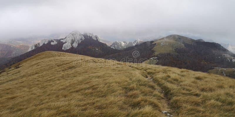 Хорватская велебитская гора/хребет стоковое изображение
